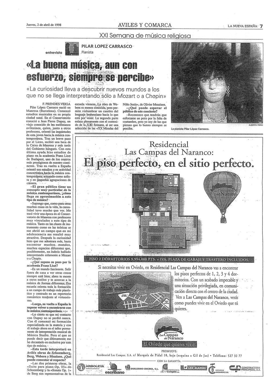 NUEVA ESPAÑA. Entrevista.2-4-98
