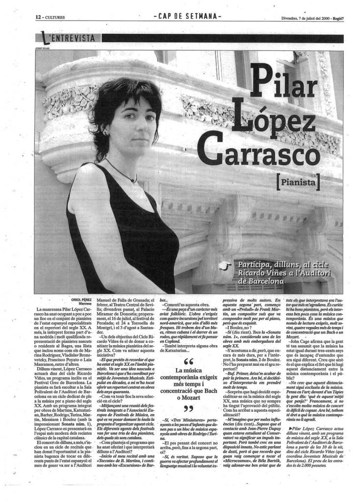 REGIÓ 7. Entrevista. 7 -7- 2000