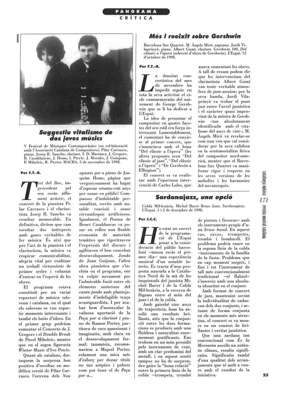 REVISTA MUSICAL CATALANA. Francesc Taverna-Bech. 1-1-99