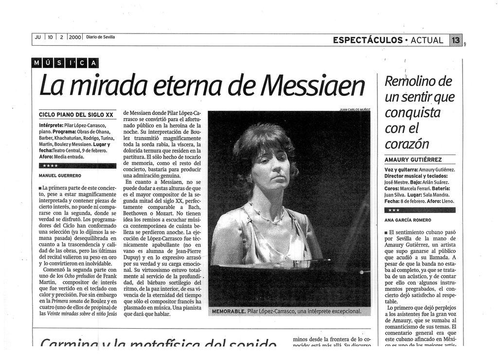 DIARIO DE SEVILLA. Manel Guerrero. 10-2-2000