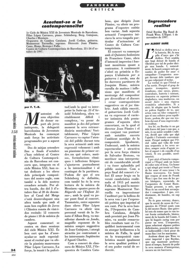 REVISTA MUSICAL CATALANA. Francesc Taverna-Bech.1-12-97