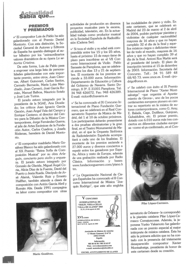 REVISTA RITMO. 1-1- 2003