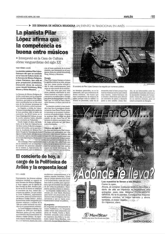 AVILÉS.Entrevista .3-4-98