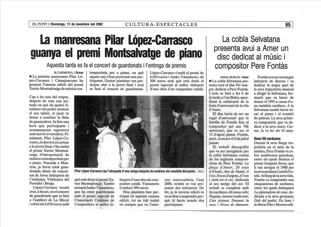 EL PUNT GIRONA. 17 -11- 2002